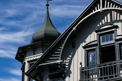 One of the many restored historic houses still left in Puerto Varas. This one is a bed & breakfast