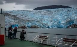 Ben preparing for new challenge videoing a glacier.