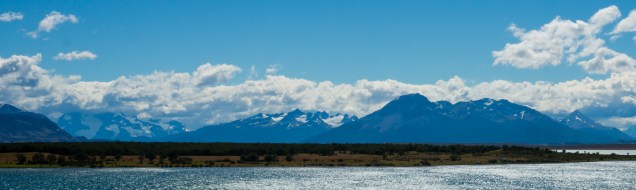 Looking back to Torres Del Paine national park.