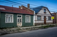 Typical historic houses in downtown Punta Arenas.