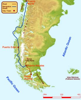 The Navimag Patagonian route