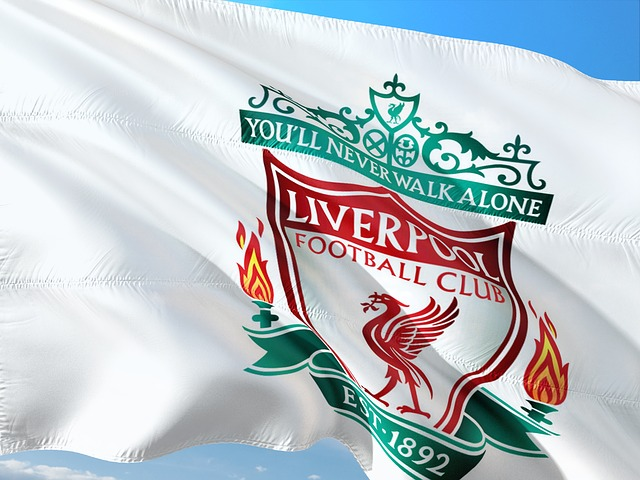Liverpool soccer flag