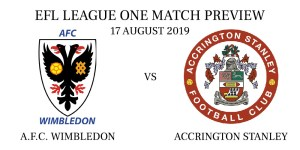 A.F.C. Wimbledon vs Accrington Stanley