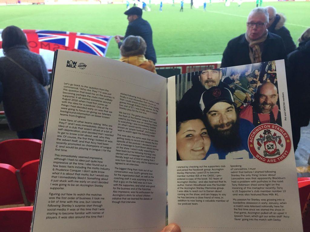 Raw Milk being read at WHAM Stadium