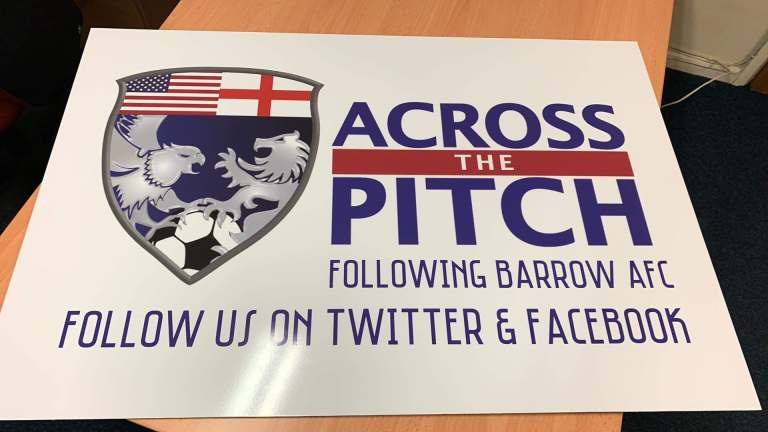 Across The Pitch Barrow AFC sign