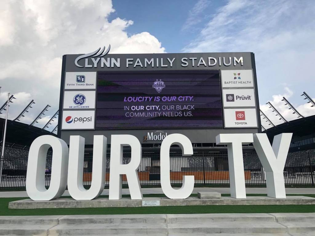 Lou City stadium front