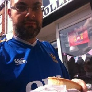 Jonny Hibber in Portsmouth shirt