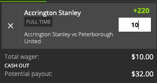 Accrington Payout
