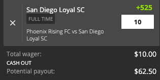 San Diego Loyal payout