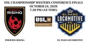 Phoenix Rising vs El Paso Locomotive USL Championship Western Conference Finals