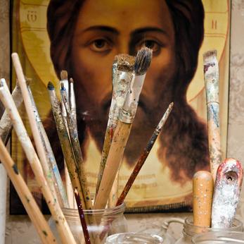 Acrylmalerei christlich Bild Copyright: Fotolia