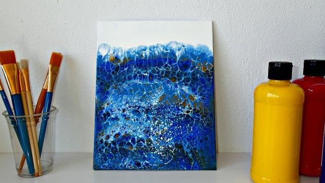 My latest blue swipe painting