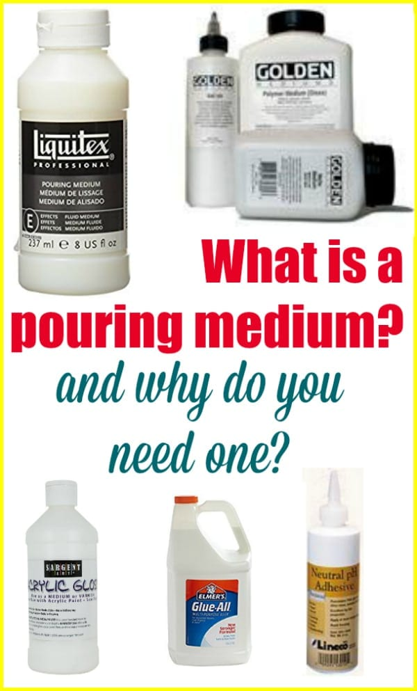 What is a pouring medium acrylic pouring for Using acrylic paints