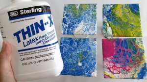 Testing DIY store alternatives to pouring medium for use with acrylic pouring and fluid acrylic paintings. Video test and review.