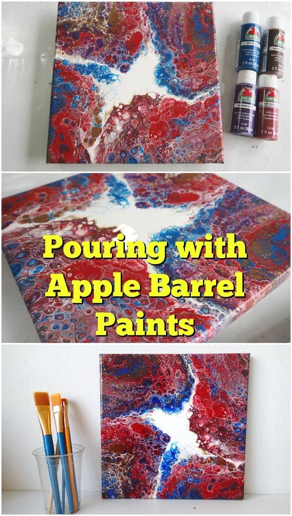 Using Apple Barrel crafts paints for acrylic pouring. Can you make cells with Apple Barrel paints Sure you can. This video shows you how