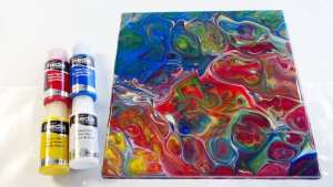 Testing DecoArt Media Fluid Acrylics with Liquitex Pouring Medium for use with acrylic pouring. Video review. Makes HUGE cells.