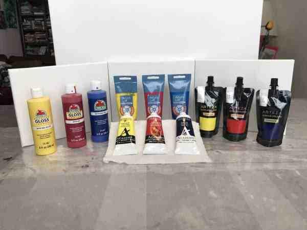 acrylic paints supplies
