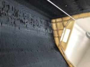 熱交換器の裏側