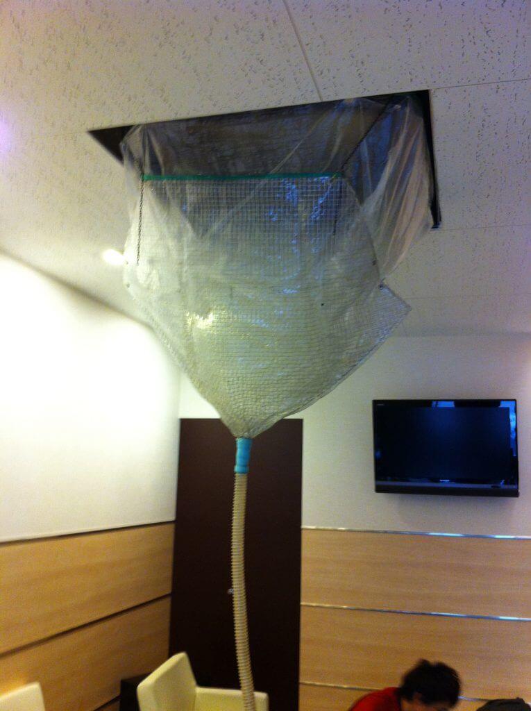 業務用 天吊りエアコンの養生方法