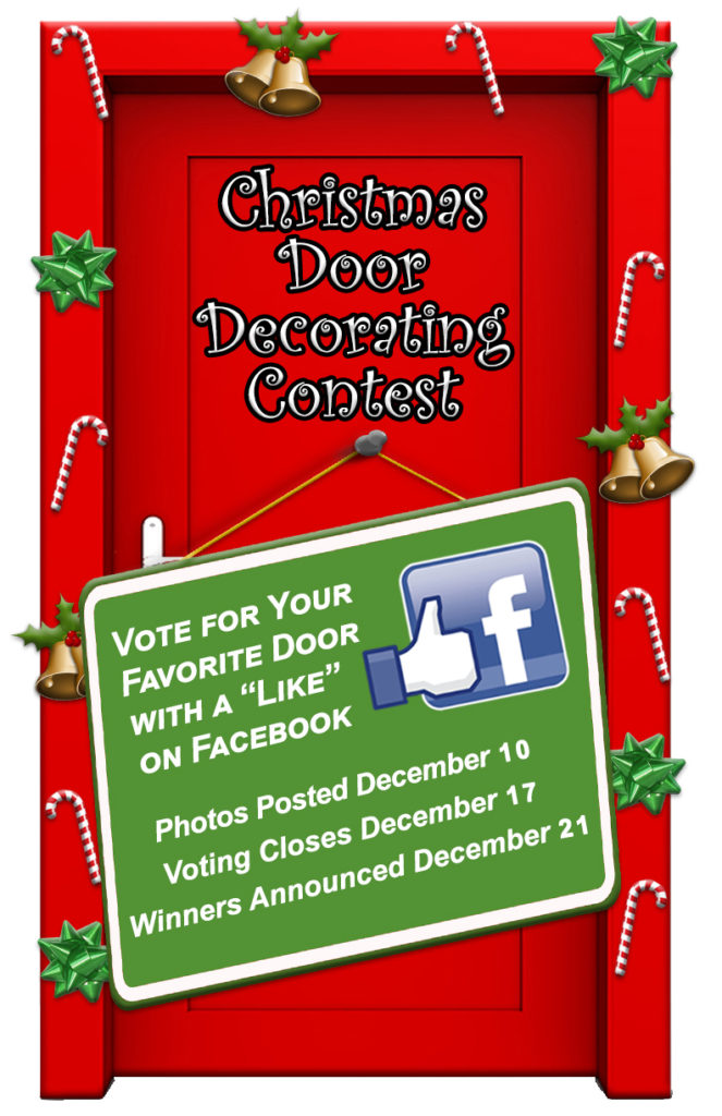 Christmas Door Decorating Contest Begins Dec 5 Vote For