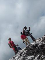 on top of the crater