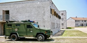 Armored Personnel Carrier at a training site