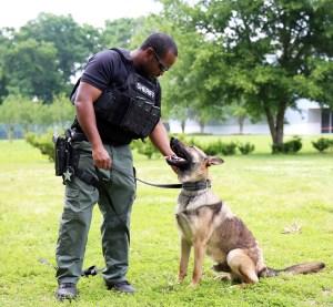 K9 Gauge and his human partner