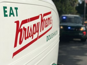 Deputies stop a vintage doughnut delivery vehicle