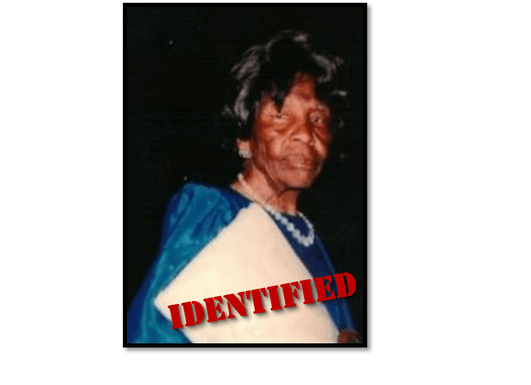Ella Mae Williams - Remains Identified
