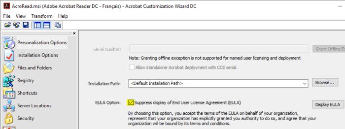 Adobe Reader : Création du package Silent Install – AC-Tech