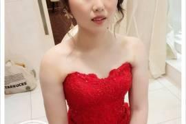 新娘秘書 婚宴造型 文定造型 文定儀式 婚紗 禮服 紅色禮服 新秘推薦
