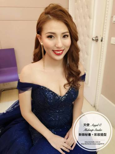 新娘秘書 婚宴造型 浪漫大波浪 送客造型 婚紗 禮服 長髮造型 新秘推薦