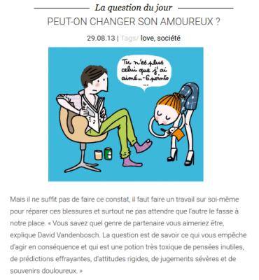 Elle Magazine - Peut-on changer son amoureux
