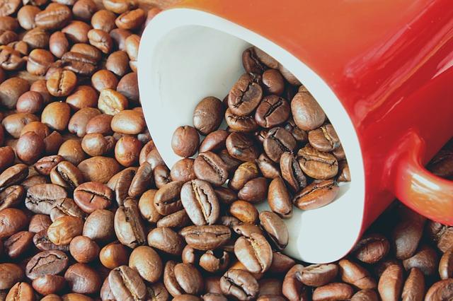 ziarna kawy rozsypana