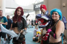 The popular game 'League of Legends' had several costumed fans this year.