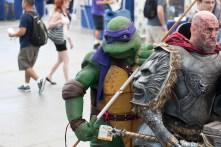 Donatello wields his bo-staff in the Sails Pavilion.