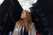 Convention staple 'Supernatural' took over on Sunday, including this Castiel cosplayer.