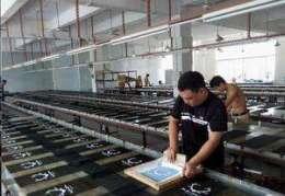 シルク印刷作業風景