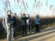 Pedro Marín explicando al grupo las características del Tancat de Milia