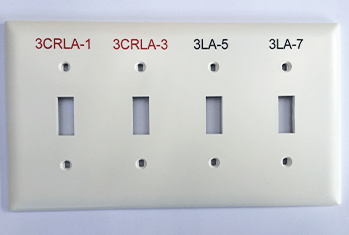 engraved switchplate