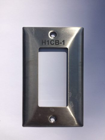 Switch plates, wall covers and receptacle engraved