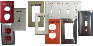 Engraved industrial products: Device Covers and Wall Plates