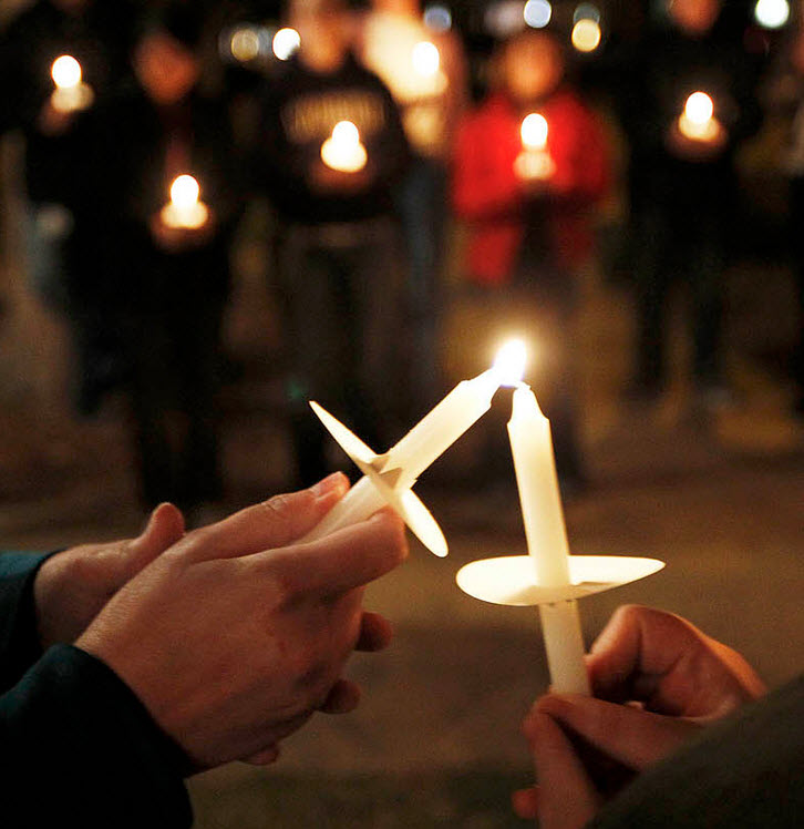 RSVP for the candlelight vigil