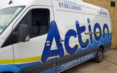 Look out for the Action Carpets & Flooring vans!