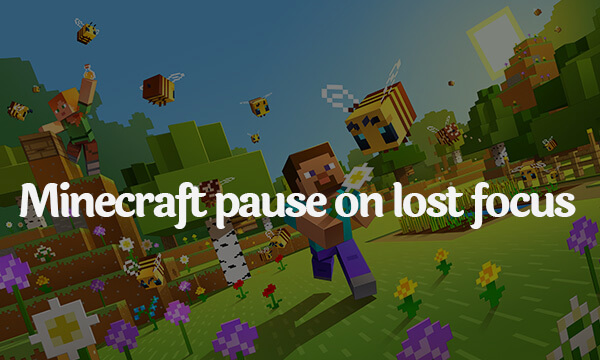 Minecraft pause on lost focus