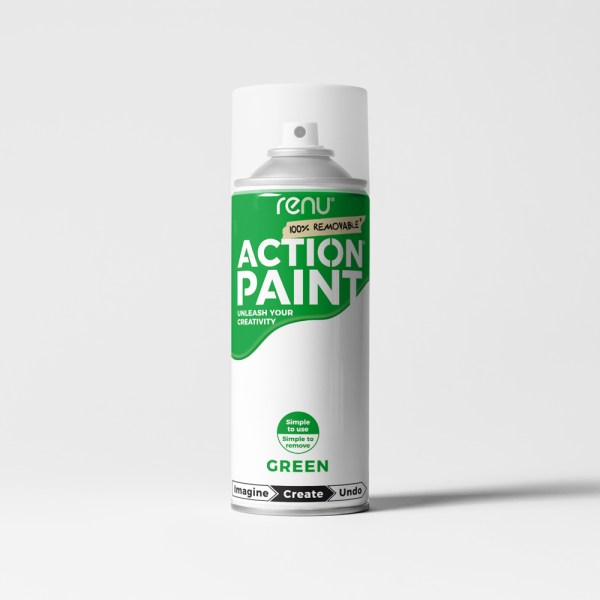 Action Paint - Green