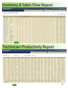 Actionrev Flow Report Technician Productivity Report