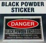black powder sticker