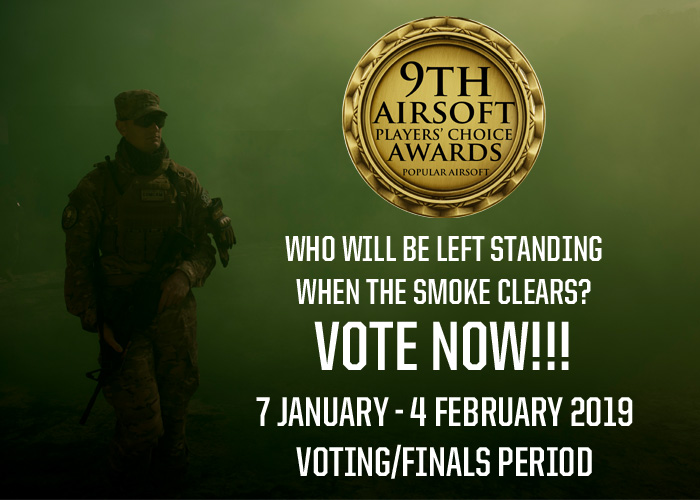 POPULAR AIRSOFT PLAYER'S CHOICE AWARDS 2019 VOTE!