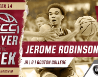 Jerome Robinson ACC Player of the Week
